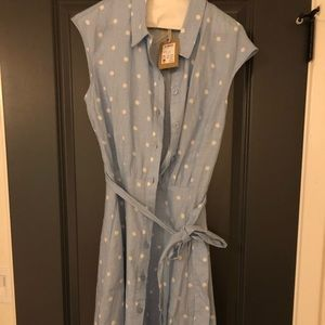 NWT Joules Linen Dress with Pockets